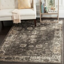 Vintage Soft Anthracite Area Rug