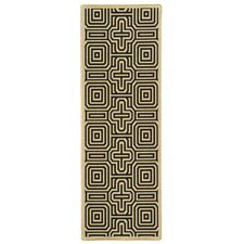 Courtyard Sand & Black Outdoor Area Rug