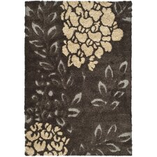 Florida Shag Dark Brown Area Rug
