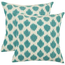 Jillian Cotton Throw Pillow (Set of 2)