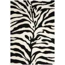 Florida Shag Ivory/Black Area Rug