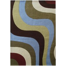 Rodeo Drive Blue Area Rug