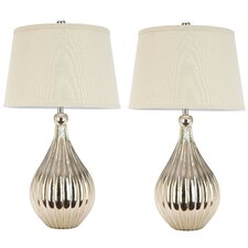 """Grace 27.5"""" H Table Lamp with Empire Shade (Set of 2)"""