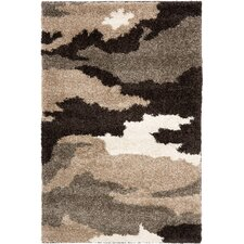 Florida Shag Beige & Grey Area Rug
