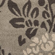 Florida Shag Smoke/Dark Brown Area Rug