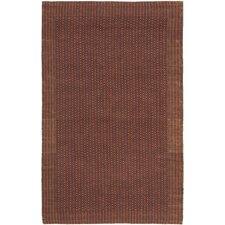 Natural Fiber Contemporary Brown/Rust Area Rug