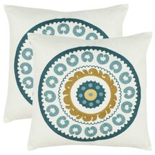 Cotton Throw Pillow (Set of 2)