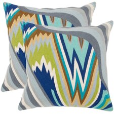 Bolt Cotton Throw Pillow (Set of 2)