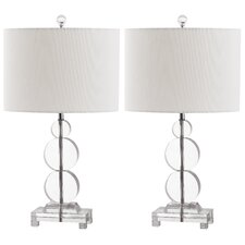 "Moira 23"" H Table Lamp with Drum Shade (Set of 2)"