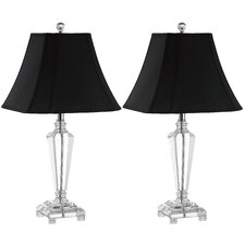"Lilly 25.5"" H Table Lamp with Bell Shade (Set of 2)"