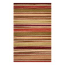 Striped Kilim Red Rug
