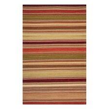 Striped Kilim Red Rug