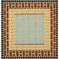 Four Seasons Brown/Blue Outdoor Area Rug