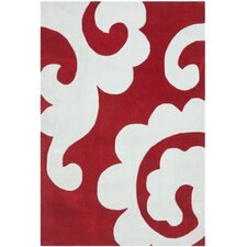 Modern Art Red / Ivory Original Rug