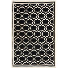 Dhurries Black/Ivory Area Rug