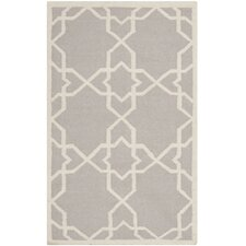 Dhurries Purple & Ivory Area Rug I