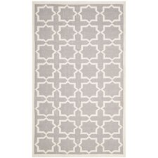 Dhurries Purple & Ivory Area Rug II
