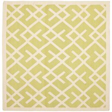 Dhurries Light Green & Ivory Area Rug