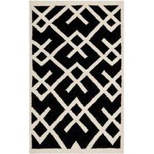 Safavieh Dhurries Black & Ivory Area Rug
