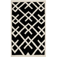 Safavieh Dhurries Black & Ivory Area Rug