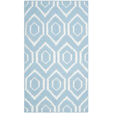 Dhurries Blue & Ivory Area Rug