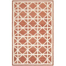 Dhurries Tan/Ivory Area Rug