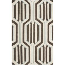 Dhurries Ivory/Brown Area Rug