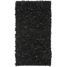 Leather Shag Black Rug II