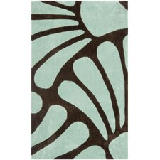 Modern Art Brown/Blue Rug