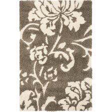 Florida Shag Dark Brown & Smoke Area Rug