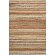 Striped Kilim Beige Area Rug