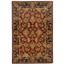 Heritage Red & Black Floral Area Rug