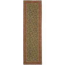 Martha Stewart Byzantium Sealing Wax Greek Key Indoor/Outdoor Area Rug