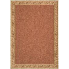 Martha Stewart Byzantium Greek Key Terracotta/Beige Indoor/Outdoor Area Rug