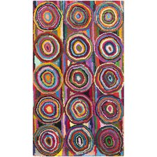 Nantucket Circle Pink Area Rug