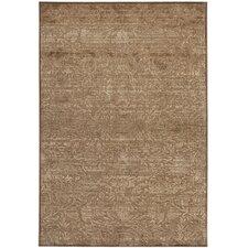 Martha Stewart Heritage Bloom Soft Anthracite/Camel Area Rug