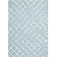 Dhurries Light Blue/Ivory Area Rug
