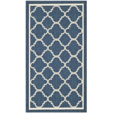 Courtyard Grantham Navy/Beige Outdoor Area Rug