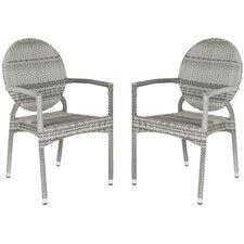 Valdez Stacking Dining Arm Chair (Set of 2)