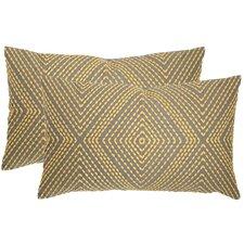 Lilly  Cotton Lumbar Pillow (Set of 2)