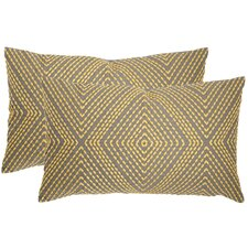Lilly  Cotton Lumbar Pillow (Set of 2)