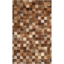 Studio Leather Brown/Light Brown Rug