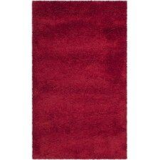 Milan Shag Red Rug