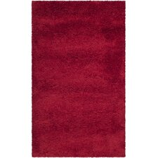 Milan Shag Red Rug