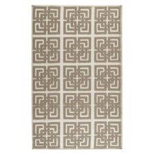 Martha Stewart Puzzle Floral Ivory/Brown Area Rug