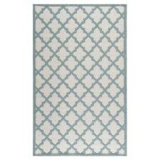 Martha Stewart Puzzle Floral Ivory/Blue  Rug
