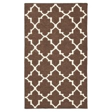 Dhurries Brown/Ivory Area Rug