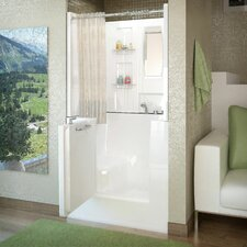 "Mesa 40"" x 30"" Soaking Walk-In Bathtub with Enclosure"
