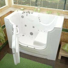 "HandiTub 60"" x 30"" Walk-In Air and Whirlpool Jetted Bathtub"