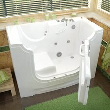 "HandiTub 60"" x 30"" Walk-In Whirlpool Bathtub"